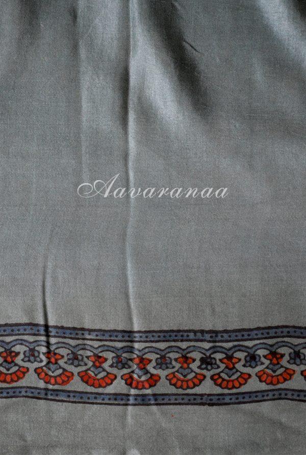 Russian grey gajji silk saree-19036