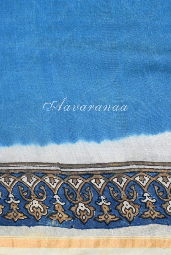 Blue bandhini design chanderi saree-19020