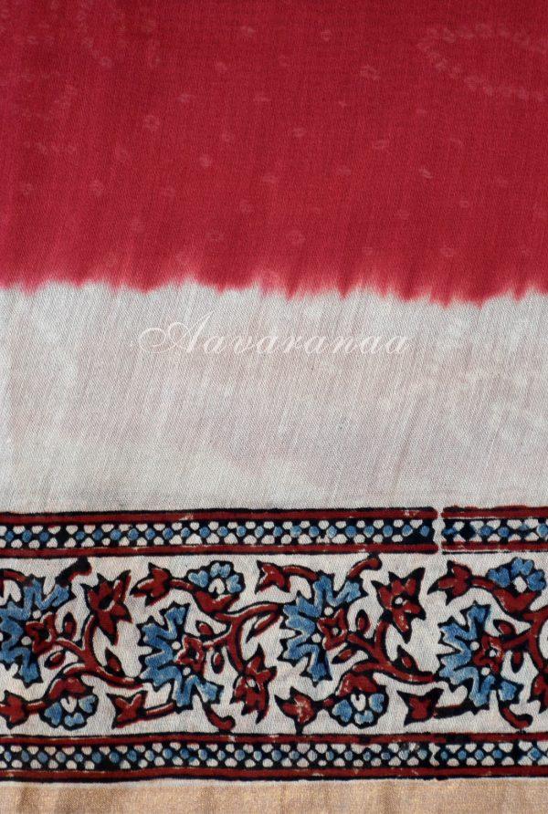 Red bandhini design chanderi saree-19012