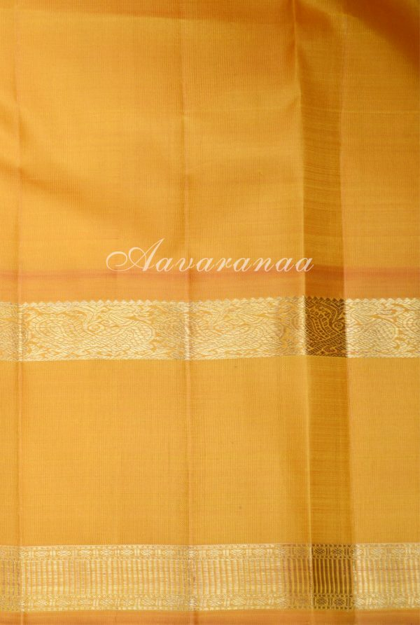 Purple and yellow checks silk saree-19161