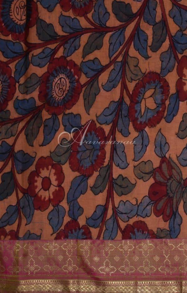 Mauve color semi organza saree-19559