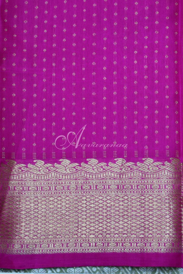 Brown with pink half and half rich silk saree-19729