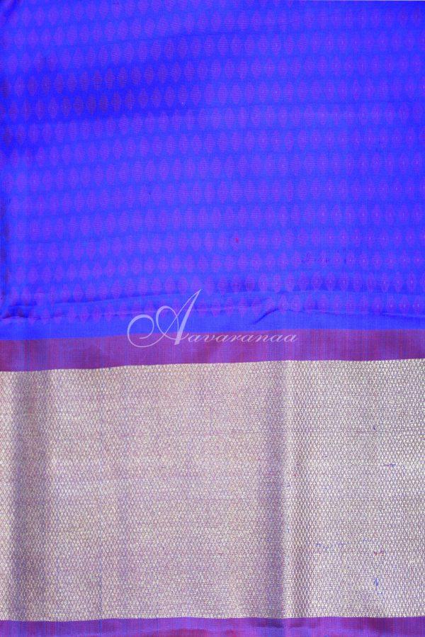 Blue half and half kancheepuram saree -19706