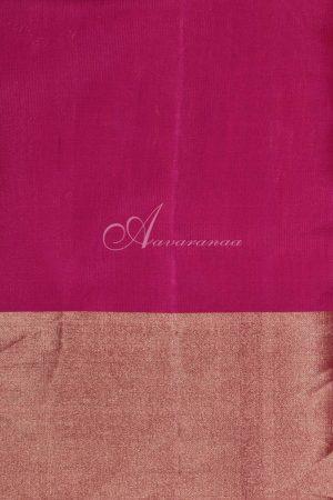 Beige soft silk with multicolour partly pallu saree-19799