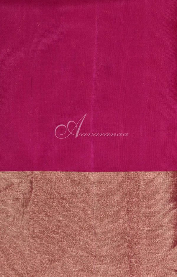 Beige soft silk with multicolour partly pallu saree-19799