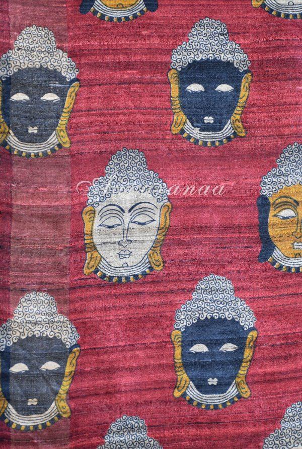 Black tussar saree with Kalamkari pallu-19480
