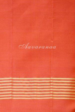 Black and Orange kanchi silk saree-19505