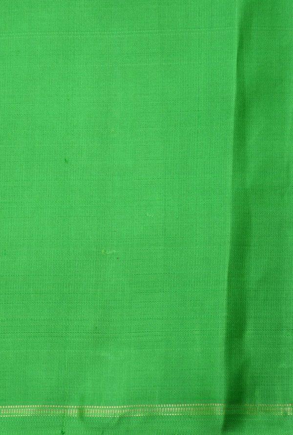 Teal and yellow muthra kanchi silk saree-19387