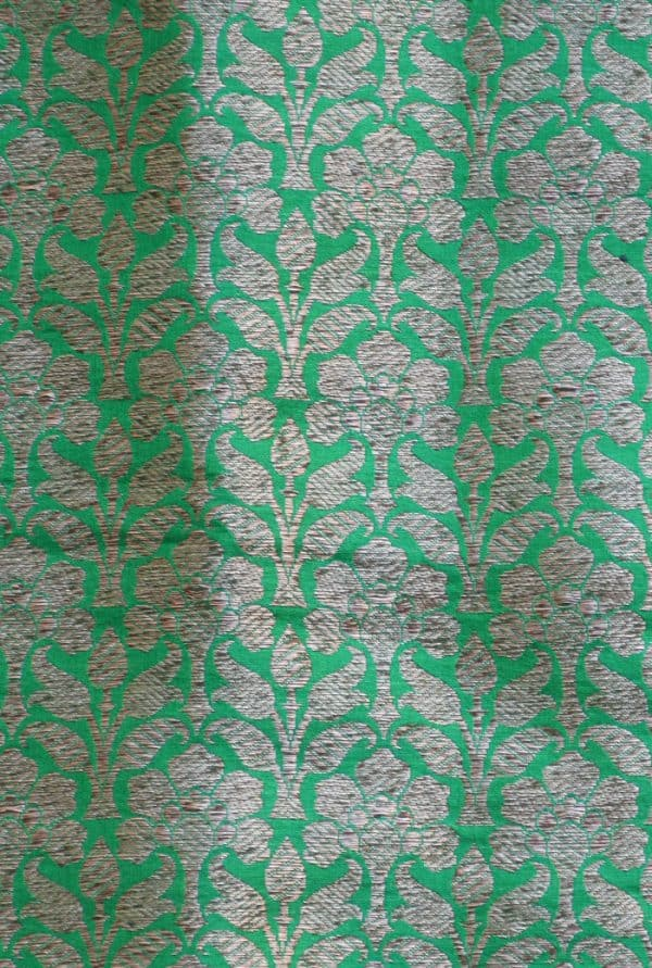Peach and green embroided organza saree-19462