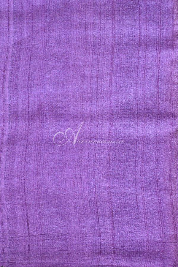 Purple and green raising style tussar saree-20045