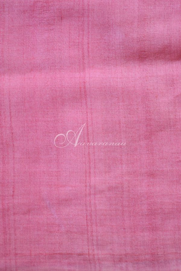 Pink and beige raising style tussar saree-20050
