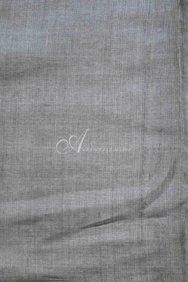 Red and grey raising style tussar saree-20062