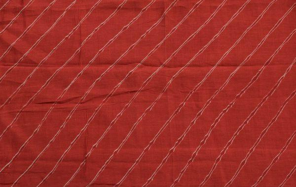 Green and red rising cutwork organza saree BLOUSE