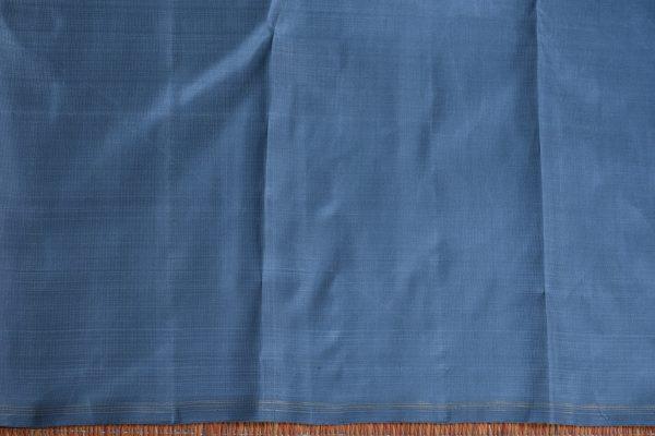 Grey bird design hand woven kancheepuram silk saree blouse