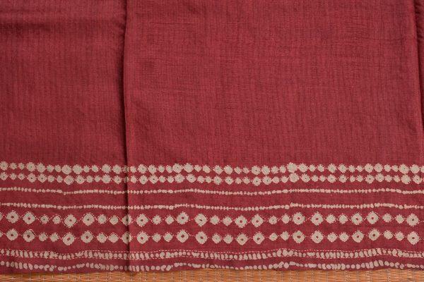 Pink rust shaded shibori kantha tussar saree blouse