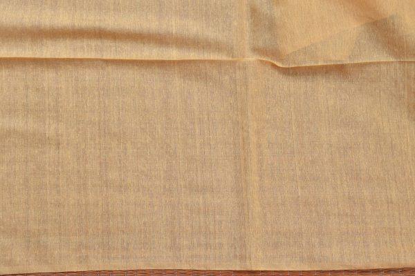 Pale yellow handloom sequins organza Saree blouse