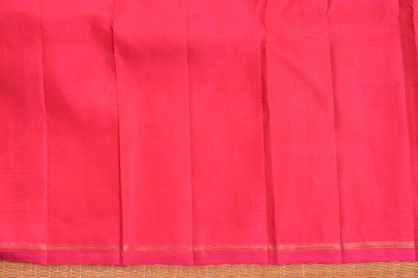 Orange matte thread weave kancheepuram silk saree blouse