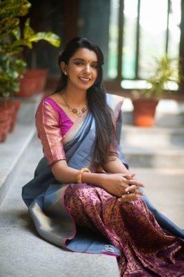 Aavaranaa skirt kanchipuram silk