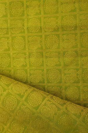 Lemon green mayil chakram zari fabric kaanchi