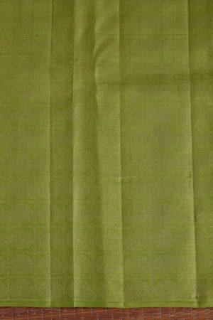 Brown meena work kancheepuram silk saree 4
