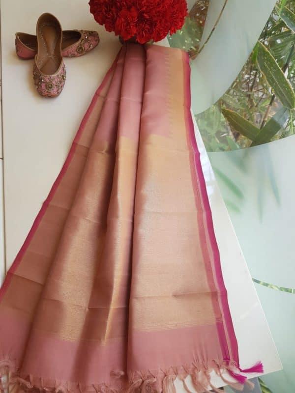 Dusty pink kanchi silk dupatta