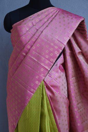 Dusty rose kancheepuram silk saree 3
