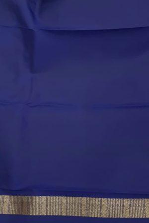 Navy blue , maroon and green horizontal lines kanchipuram silk saree blouse