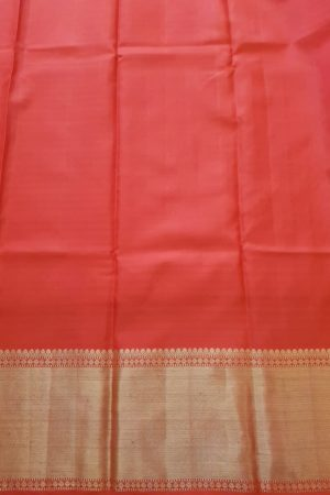 Orange zari checks silk saree2
