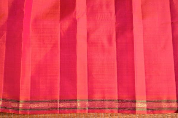 Peach small border kanchi silk saree 5