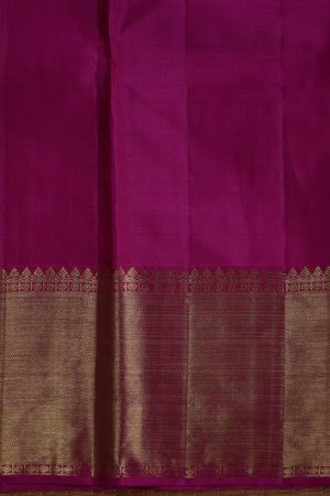 Pink zari checks kanchi silk saree blouse