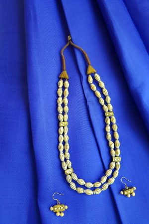 White terracotta necklace