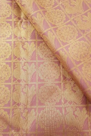 dusty pink checks silk fabric