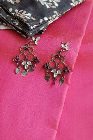 kundan earring silver