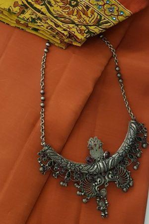 peacock pendant chain silver