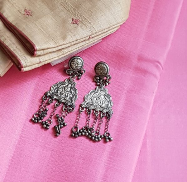 lotus earring silver