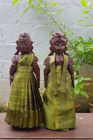 Olive green marappachi dolls