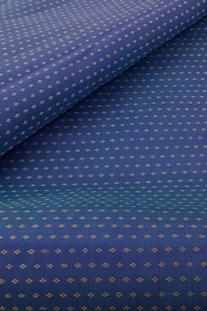 Peacock blue kanchi silk fabric