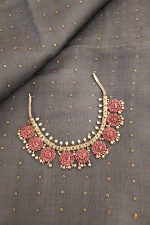 Pink kemp silver addigai
