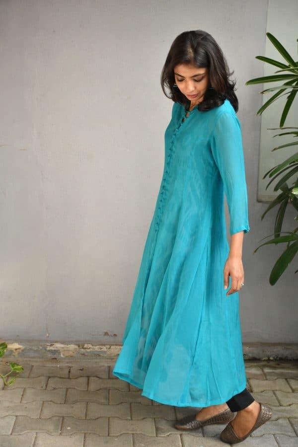 blue chiffon silp and coat 2