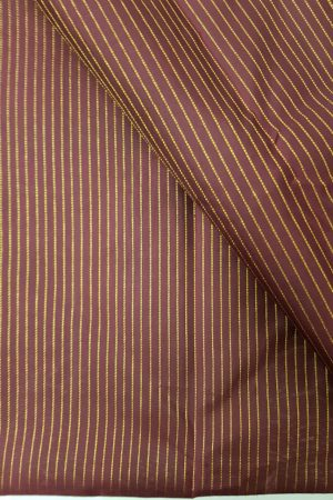 deep maroon zari stripes kanchi silk yardage