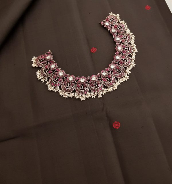 kemp pearl silver necklace