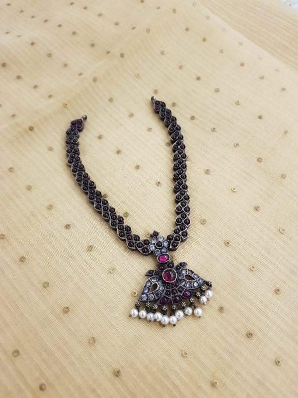 silver ruby neckpiece