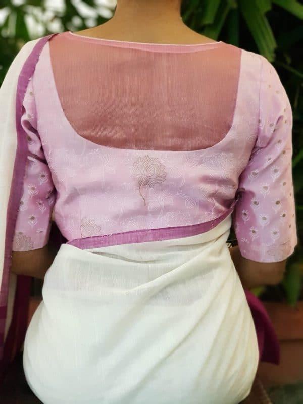 Lilac chandheri blouse back