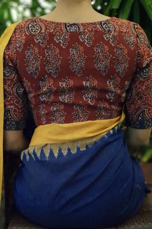 Maroon ajrakh blouse back