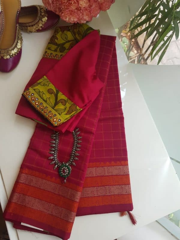 Aracku kanchi cotton saree