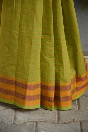 Green kanchi cotton saree 2