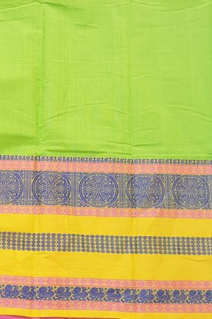 Green long ganga jamuna kancji cotton saree5