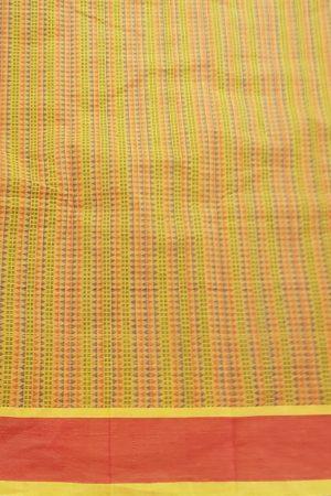 Mustard kanchi cotton saree 5