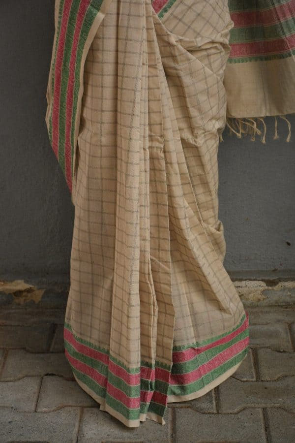 off white kanchi cotton saree 2