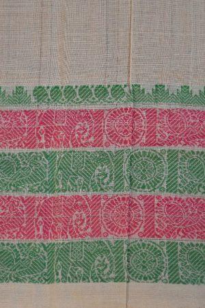 off white kanchi cotton saree 4